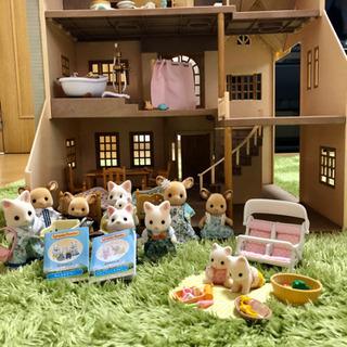 <中古>シルバニアファミリー ハウス家具小物人形セット