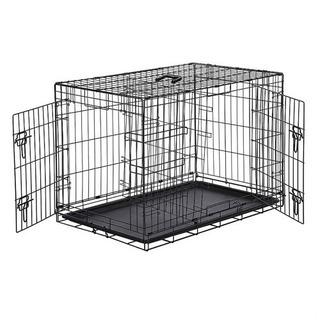 Amazonベーシック ペット用ケージ 折りたたみ式 ダブルドア...