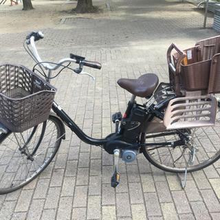 【取引先決定】電動自転車(買い物カゴ+チャイルドシート+充電器)