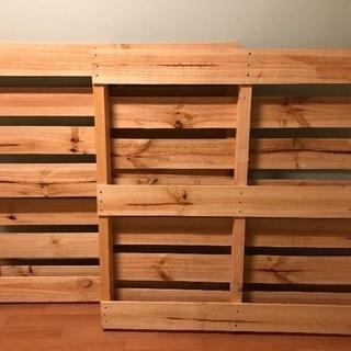 木製パレット 2枚 パイン 松 ベッドフレーム