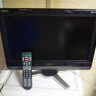 SHARP AQUOS 20型液晶テレビ2台セット  LC-20...