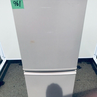 961番 シャープ✨ノンフロン冷凍冷蔵庫✨SJ-14T-C‼️