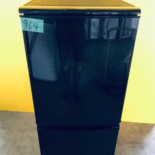 964番 シャープ✨ノンフロン冷凍冷蔵庫✨SJ-14W-B‼️