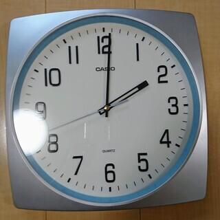 【美品】カシオ 静音 壁掛け時計(コチコチ音がしない)