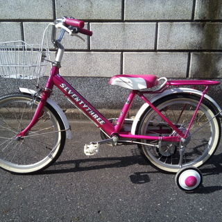 子供自転車 ピンク 18インチ 補助輪 サイドスタンド付き 販売...