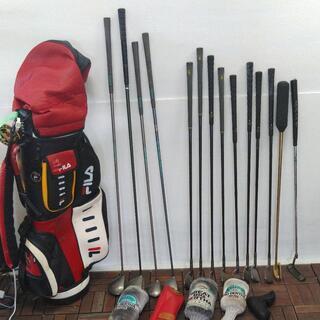 フィラキャディバッグ&ゴルフクラブ14本まとめてセット