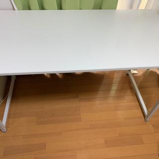 白シンプルテーブル 0円