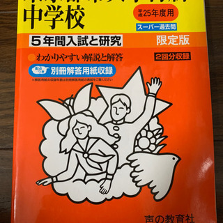 東京都市大学付属中学校 赤本 平成25年度用 やや書き込みあり 過去問