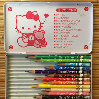 ハローキティ 色鉛筆12色 記名あり