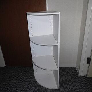JM7873)3段コーナーボックス ホワイト 幅:約29.8cm...