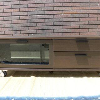 JM7880)キャスター付きテレビ台 ブラウン 幅:約119cm...