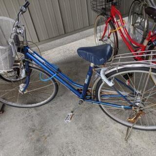 【お譲り先決定しました】27インチ自転車(青)