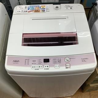 全自動洗濯機 AQUA  2018年製 AQW-KS6F