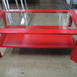 ガラス センターテーブル 棚付き 座卓 リビングテーブル