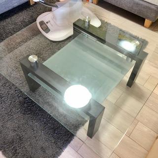 ガラステーブル 90cm×90cm×40cm
