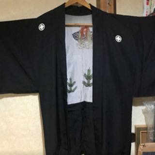 昔の着物 紋付羽織 美品!