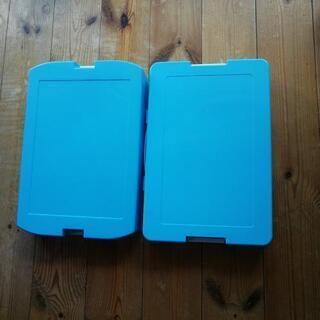 ☆新品☆小学校で使うお道具箱☆ピンク・水色2個ずつ計4つ