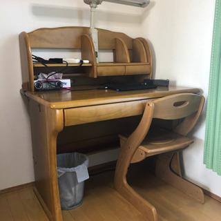 《お譲りします》学習机+セット椅子