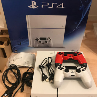 PS4 本体セット+別途ワイヤレスコントローラー付き(純正品)
