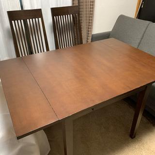 ニトリダイニングテーブル【椅子2脚セット】