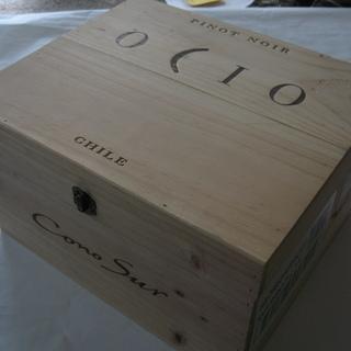 *輸入ワインの空木箱*