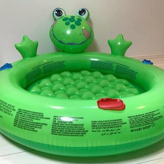 幼児用 プール  カエル