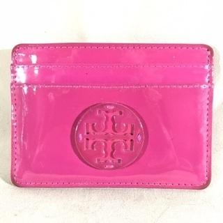 トリーバーチ ピンクエナメルレザー カードケース パスケース
