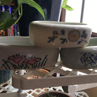 古い鳥の水飲み 植木鉢などに − 千葉県