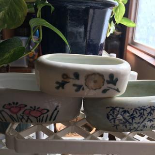 古い鳥の水飲み 植木鉢などに - その他