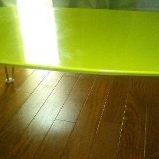鏡面仕上げ折り畳みローテーブル