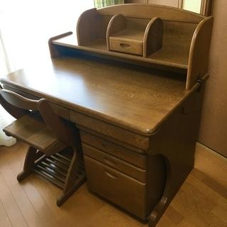 ★浜本工芸★ 高級学習机(袖机+椅子セット)