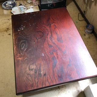 ローテーブル 重厚な座卓 横121.5×奥行91×高さ33cm