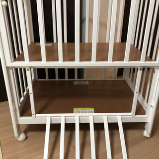 【お取引完了】カトージ ベビーベッド ミニ ハイタイプ ホワイト - 子供用品