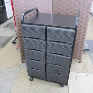 VHS収納棚 小物収納 幅48×奥行40×高さ79cm 黒…