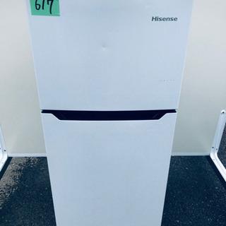 ①✨高年式✨ 617番 Hisense✨2ドア冷凍冷蔵庫✨HR-...