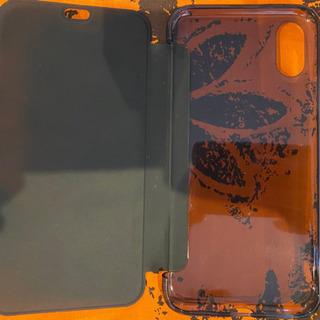 iPhoneX 表裏両面半透明で裏面はAppleマーク見え…