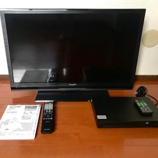 AQUOSテレビ + DVDプレーヤー セット
