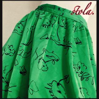 [日本製✧︎stola.]サテンスカート ギャザースカート 緑色...