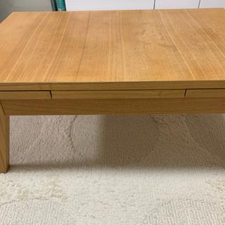 天然木 伸長式 エクステンション ローテーブル