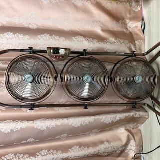 3連 扇風機 サーキュレーター リモコン付き 動作確認済