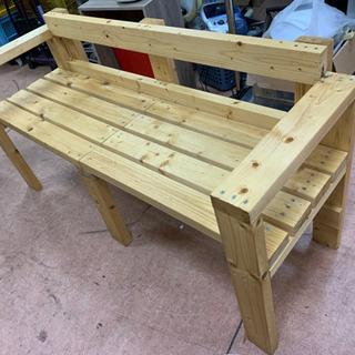 DIY手作りベンチ 肘掛け 背もたれ 付き 🌈 しげん屋