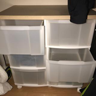 衣類等収納引き出し棚 あげます
