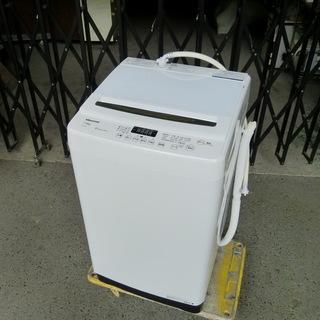 美品 全自動洗濯機 7.5kg ホワイト HW-G75A His...