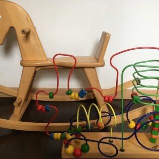 ボーネルンド知育玩具セット 木馬とルーピング