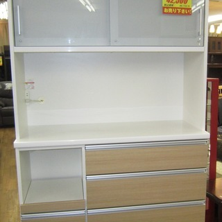 R224 高級松田家具 食器棚・レンジボード・キッチンボード 美品