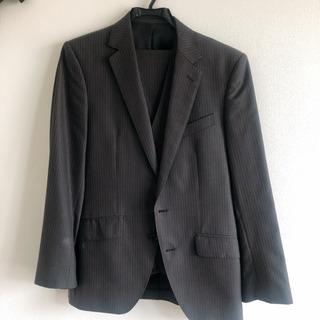 スーツ 3ピース パンツ ジャケット ベスト 黒 ブラック ストライプ