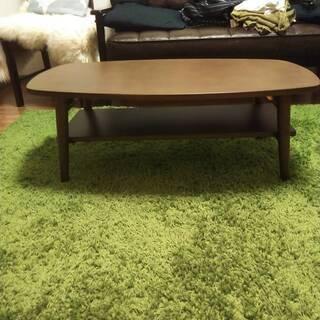 折りたたみローテーブル [長方形/ダークブラウン] 幅90cm ...