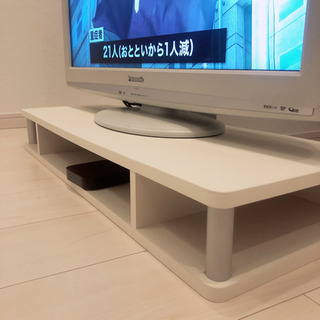 美品!テレビ台 PC台 ホワイト 白