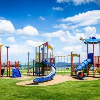 園児の夏休みに公園へ
