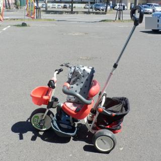 三輪車 カーゴ 舵取り棒付き ステップ付き 安心ガード カバー付...